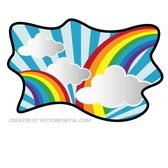 RAINBOW IN THE CLOUDS VECTOR.eps