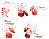 Romantic Gift Opening Moments - Vector Material Romance Love Stars