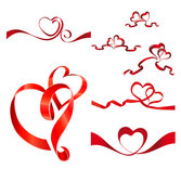 Heart-shaped Ribbon Vector Material Valentine's Day Heart Shaped Heart-shaped