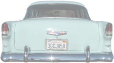 ghost image of 55 chevys rear PSD