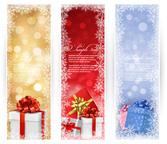 3 Christmas Brochures with Gift Boxes