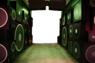 Room with Speakers PSD