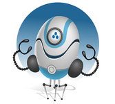 Funny Robot Vector Character