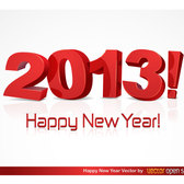 HAPPY NEW YEAR 2013 VECTOR.ai