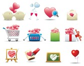 romantic heartshaped icon 1