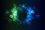 Bright Colorful Abstract Bokeh Circles Background