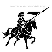 KNIGHT ON HORSE VECTOR IMAGE.eps