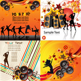 The Trend Of Music Vector Background Material