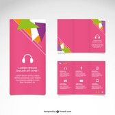 Pink mock-up vector set
