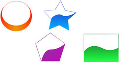 Free vector coloured shapes