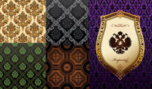 Background Of Ornate Classical European Pattern Vector Material Background European