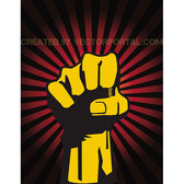 RAISED FIST VECTOR ILLUSTRATION.eps