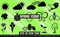 14 Spring icons