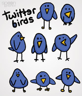 8 Cute & Simple Twitter Bird Icons (Free)