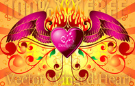 Winged Heart Art Background Conceptual