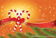 Candy Cane Christmas Background