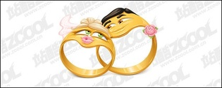 Vector cartoon style ring material