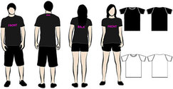 Four T-shirt template and models free