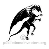 BLACK DRAGON VECTOR IMAGE.eps