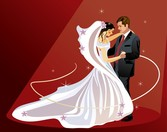4 boda boda tema Vector Illustrator