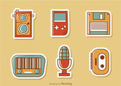 Retro Style Media Vector Pack 2