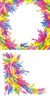 Vector Shapes Colorful Willow