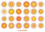 Vector Sun Shapes