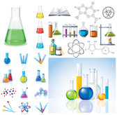 Chemical Products & Icons Vector Chemical Products Icons