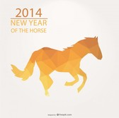 Triangle Design for 2014 Year of the Horse