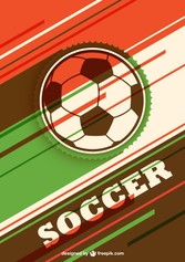 colorfully soccer ball