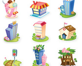 3D House pictogram set-2