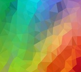 Colorful Low Poly Abstract Background