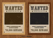 Vintage Wanted Vector Poster