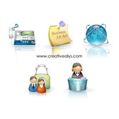 GLOSSY BUSINESS ICONS.eps