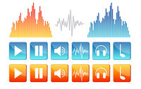 Music, Sound Material Elements Of Vector Icons