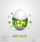 Vector Egg Easter Card With A Ribbon Bow
