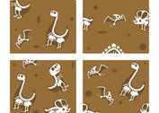 Dinosaur Fossil Vector Backgrounds