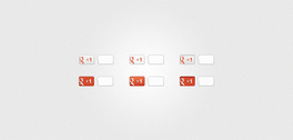 New (Version 2) Google +1 Buttons (PSD)