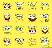 16 Character Spongebob Vector Faces