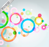 Colorful ring background
