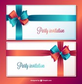Party invitation vector cards