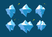 Floating Icebergs Vectors
