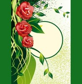 Green Nature with Roses