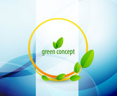 Abstract green leaf picture vector-5