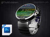 Android dragen - Wearable Mockup (gratis PSD)