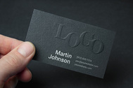 Embossed Business Card MockUp #2