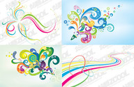 4 Lines Of The Trend Of Dynamic Design Element Vector Materi