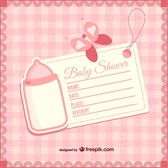 Baby shower girly invitation