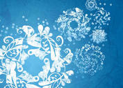 Frosted Snow Flake Brushes