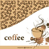 Coffee vector template